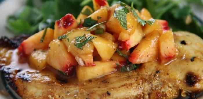 Receta de ensalada de pollo con duraznos for Como cocinar acelgas frescas