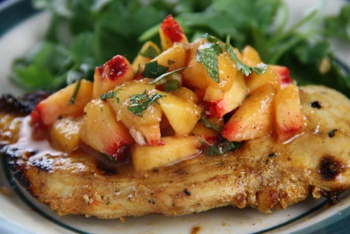 receta de ensalada de pollo con duraznos