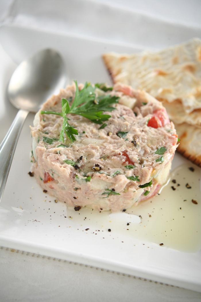 un novedosa receta de atún moldeado