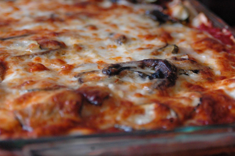 lasagna de portobellos