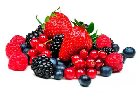 frutos rojos del bosque