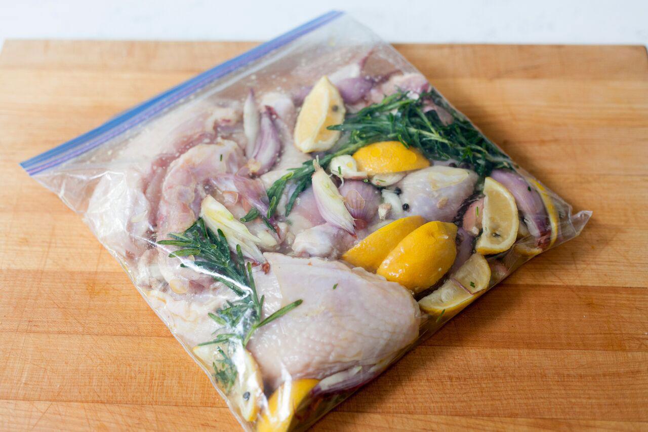 utilizar las bolsas de freezer para marinar