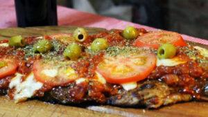 matambre a la pizza con queso Edam